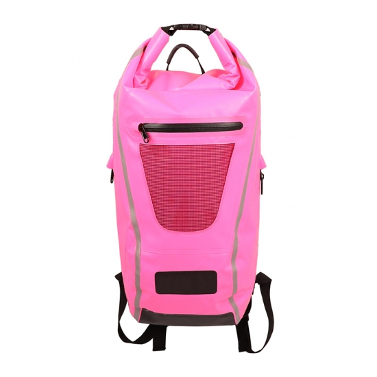 Pink Outdoor Dry Backpacks