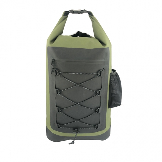Green Rolltop Dry Backpacks